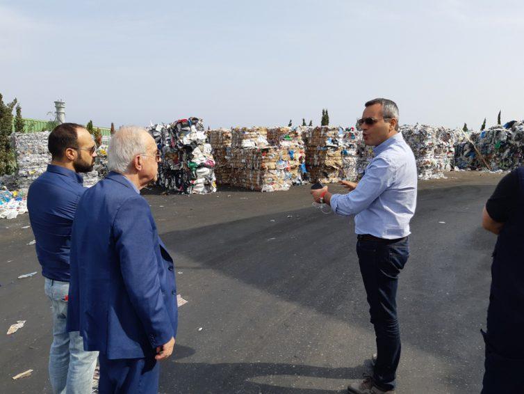 Επίσκεψη Δημάρχου Ηρακλείου στο εργοστάσιο της ανακύκλωσης