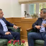 Ενημερωτική συνάντηση Περιφερειάρχη με Πρόεδρο ΕΣΔΑΚ για τα έργα που προωθεί ο Ενιαίος Σύνδεσμος