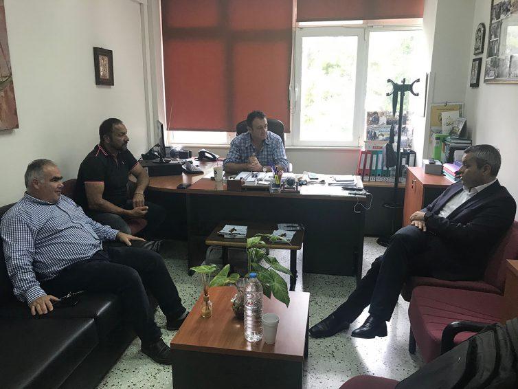 Συνάντηση με τη Διοίκηση του ΕΚΗ για τον Βουλευτή ΣΥΡΙΖΑ ν. Ηρακλείου Χάρη Μαμουλάκη