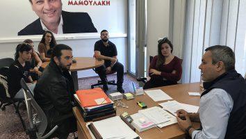 Στο πλευρό νέων πτυχιούχων – εργαζομένων μέσω ΟΑΕΔ ο Χάρης Μαμουλάκης