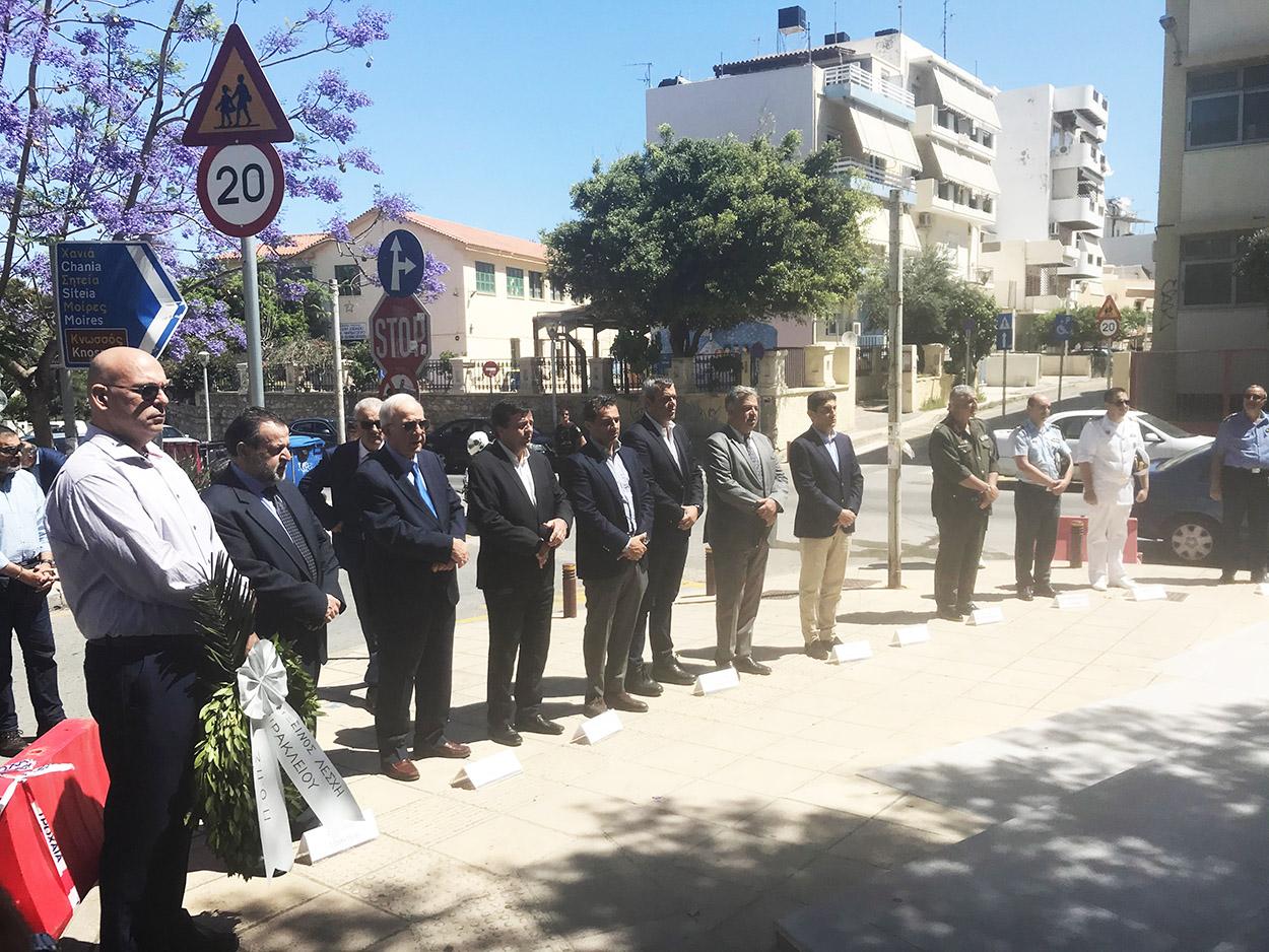 Στην εκδήλωση τιμής και μνήμης της Γενοκτονίας των Ποντίων ο Βουλευτής Ηρακλείου Χάρης Μαμουλάκης ως εκπρόσωπος του ΣΥΡΙΖΑ