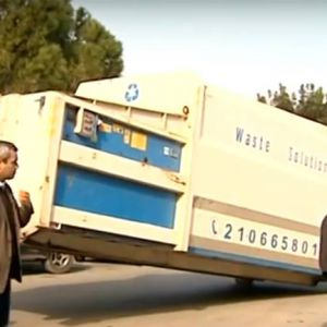 Το press container της ανακύκλωσης στο ΠαΓΝΗ
