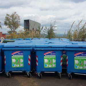 200 νέοι κάδοι ανακύκλωσης τοποθετούνται στο Ηράκλειο