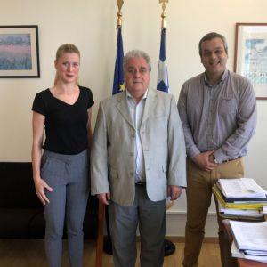 Σημαντικές επαφές στην Αθήνα για τα έργα του ΕΣΔΑΚ από τον Χάρη Μαμουλάκη