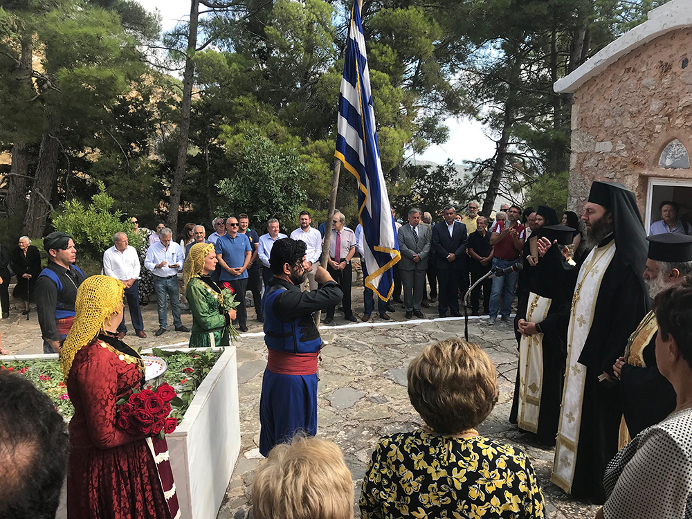 Στις εκδηλώσεις τιμής και μνήμης των εκτελεσθέντων της Δαμάστας και του Μαράθους
