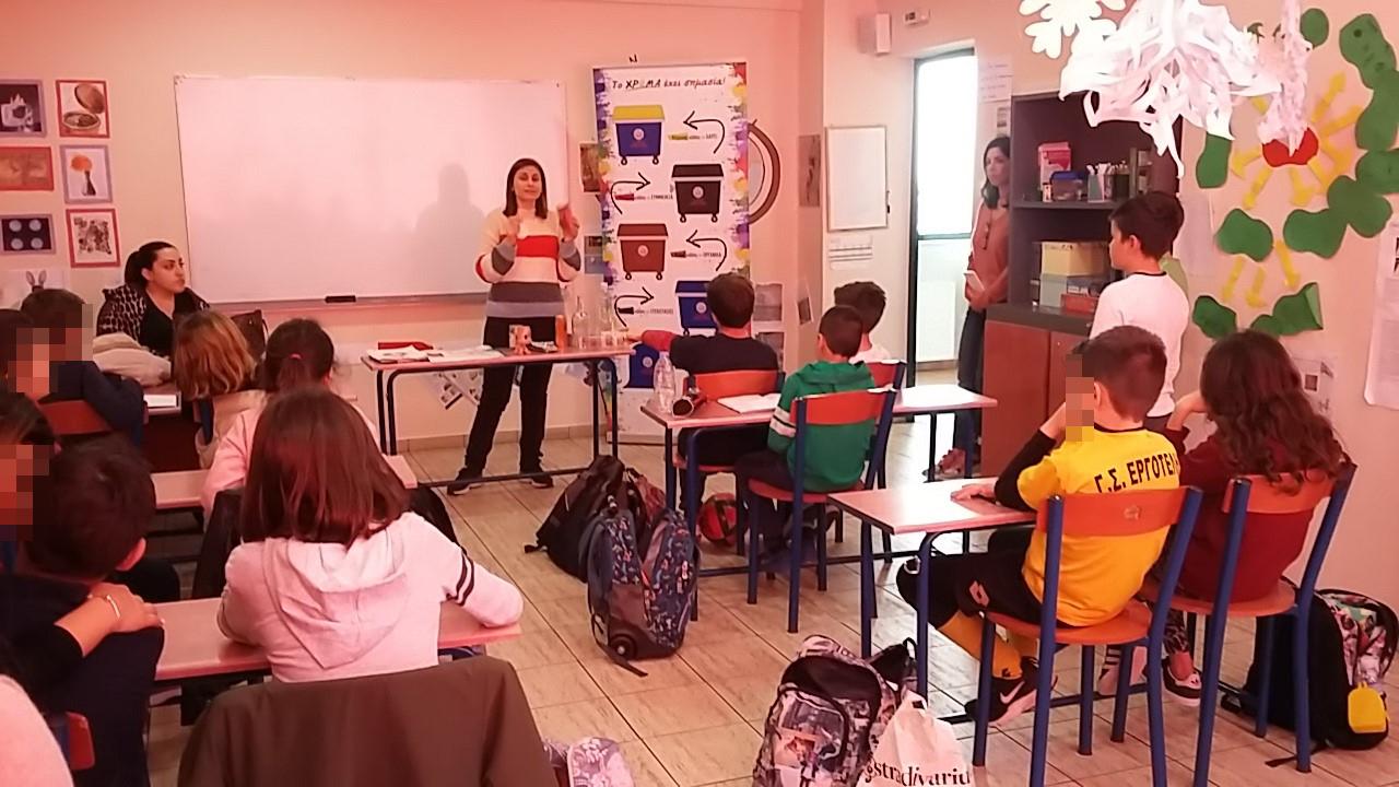 Συνεχίζονται οι δράσεις ενημέρωσης και ευαισθητοποίησης από την «Πράσινη Ομάδα» του Ε.Σ.Δ.Α.Κ. στα σχολεία