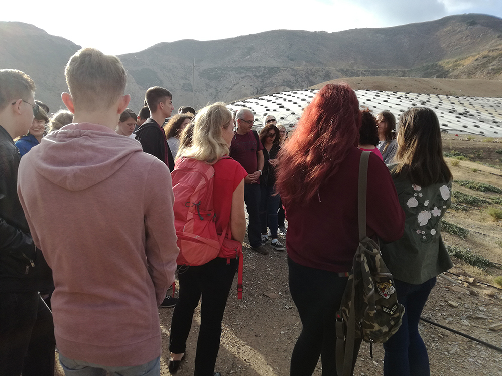 Μαθητές από Αγγλία, Γερμανία, Ρουμανία και Ελλάδα στον ΧΥΤΑ Πέρα Γαλήνων